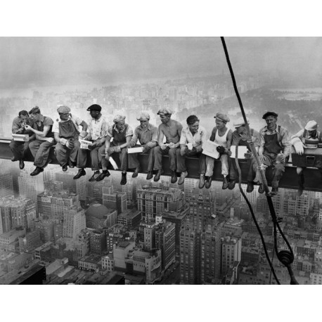 Mural trabajadores viga NY - fotomural Lunch atop a Skyscraper
