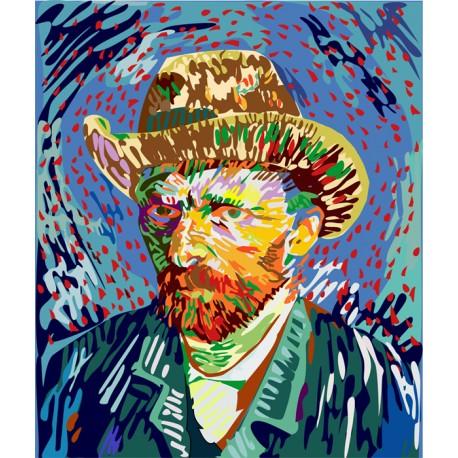 Mural Van Gogh - vinilo decorativo retrato