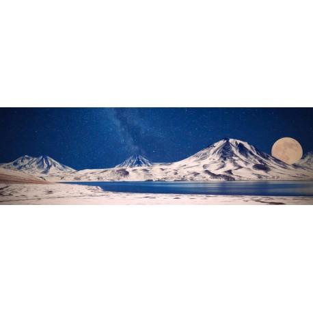 Mural montaña luna llena