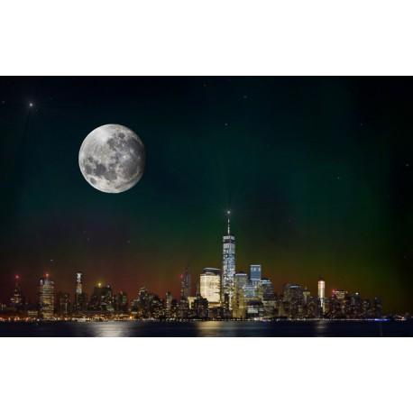 Mural Nueva York luna llena
