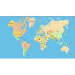 Mural mapa mundi