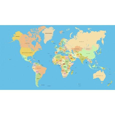 Vinilo mapamundi nombres