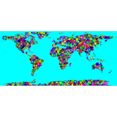 Fotomural mapa mundi geométrico