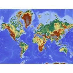 Mural mapa mundo geográfico