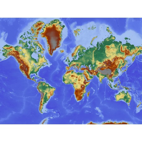 Vinilo mapa mundi geográfico