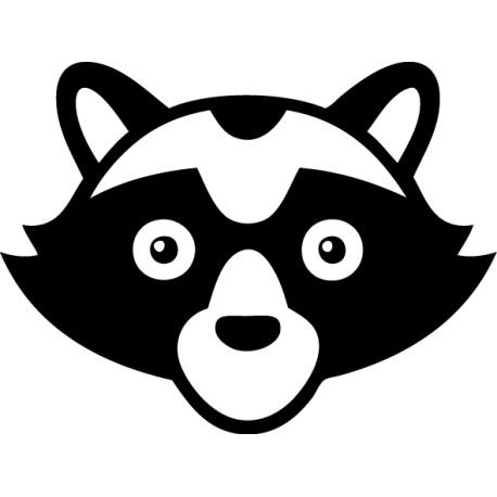 Vinilo infantil máscara mapache