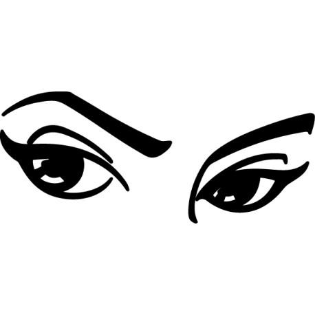 Vinilo ojos mujer
