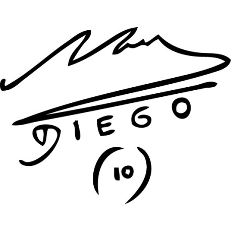 Pegatina firma Maradona