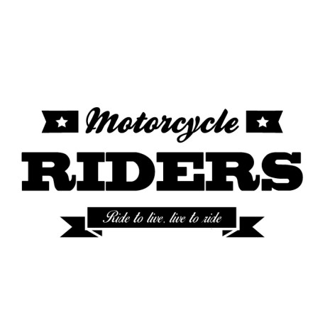 Vinilo frase motorcycle rider