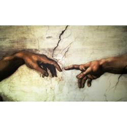 Mural de vinilo La Creación de Adán