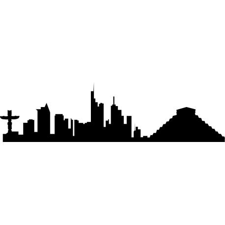 Vinilo skyline México