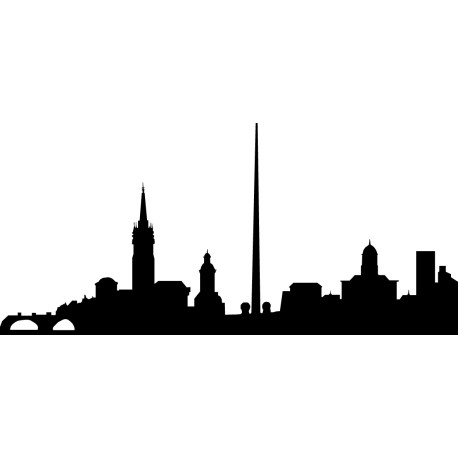 Vinilo skyline Dublín