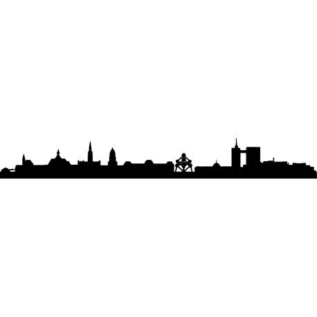 Vinilo skyline Bruselas