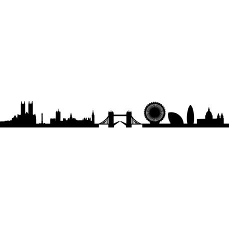Vinilo silueta Londres