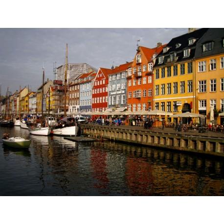 Vinilo fotomural Copenhague barcas