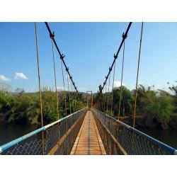 Vinilo decorativo puente colgando