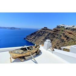 Fotomural barca Grecia