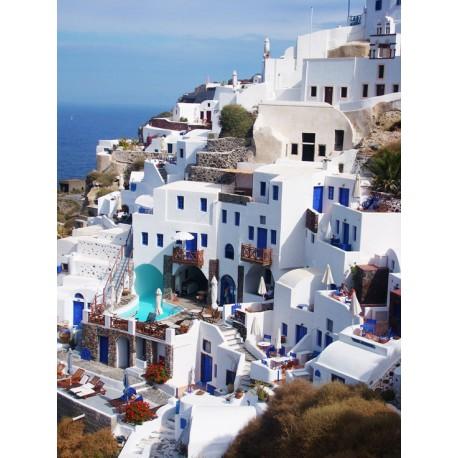 Fotomural casas Santorini