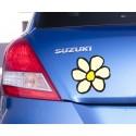 Pegatina flor coche
