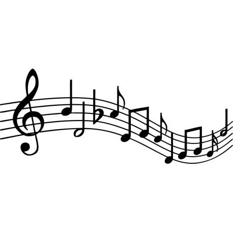 pegatinas musicales pentagrama