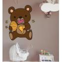 Vinilo infantil oso miel