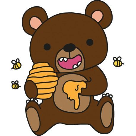 Vinilo decorativo infantil osito miel