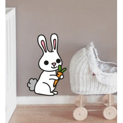 Vinilo infantil conejo zanahoria