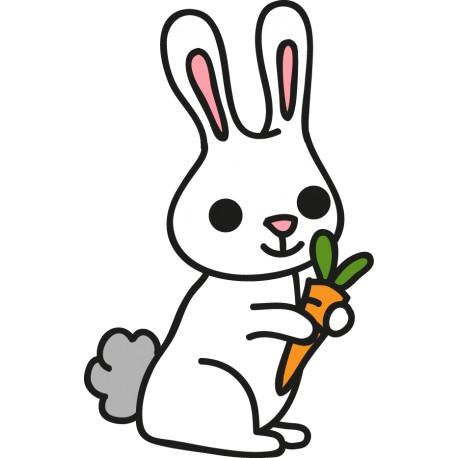 pegatina infantil animal conejo zanahoria