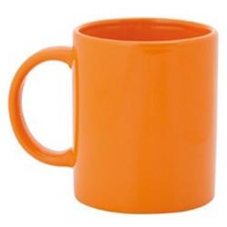 Taza de céramica naranja