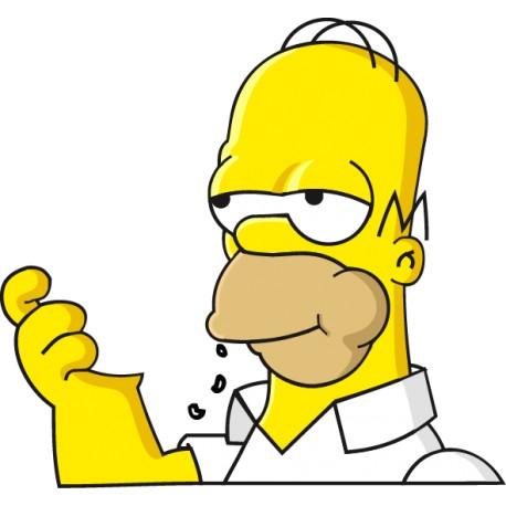 Pegatina portatil Homer comiendo