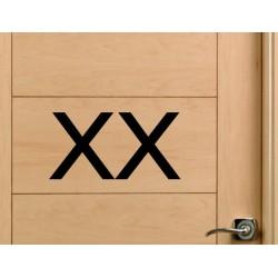 pegatina WC XX