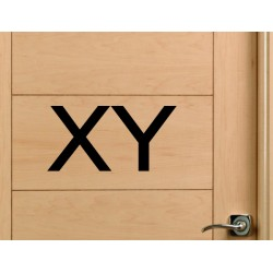 pegatina WC XY