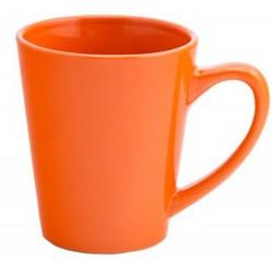 Taza céramica cónica naranja