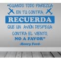 Vinilo frase Henry Ford
