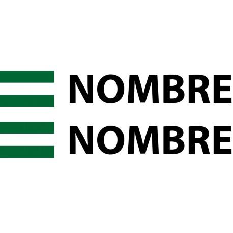 Pegatina bandera Andalucía nombre