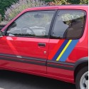 Pegatina bandera Peugeot