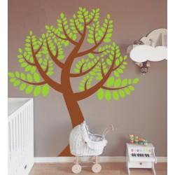 Vinilo árbol hojas