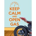 Vinilo Keep calm and open gas