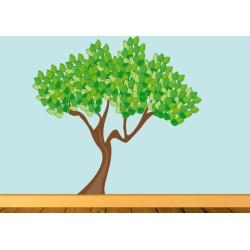 Vinilo árbol copa abundante