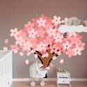 Vinilo árbol rosado