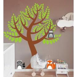 Kit de vinilo árbol animales