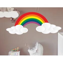 Vinilo infantil nubes arco iris