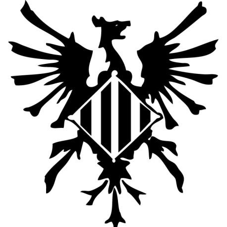 Pegatina fénix catalá renacentista