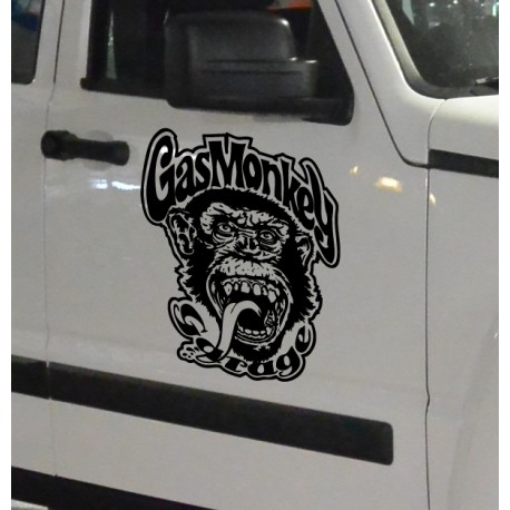 Pegatina de vinilo gas monkey