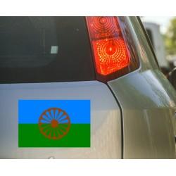 Pegatina bandera gitana
