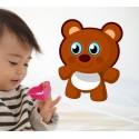 Vinilo infantil oso de peluche