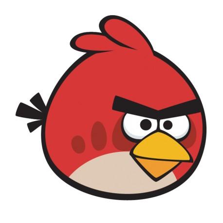 Vinilo Angry Birds rojo