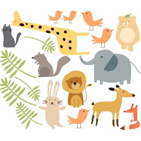 Vinilo animales de selva