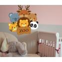 Vinilo animales zoo