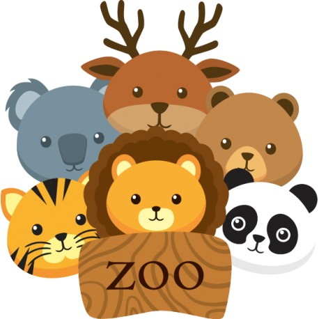 Vinilo infantil animales zoo